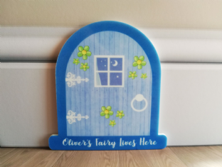 Personalised Blue Fairy Door